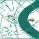 Plan de Bordeaux localisant les deux espaces du Jardin Botanique