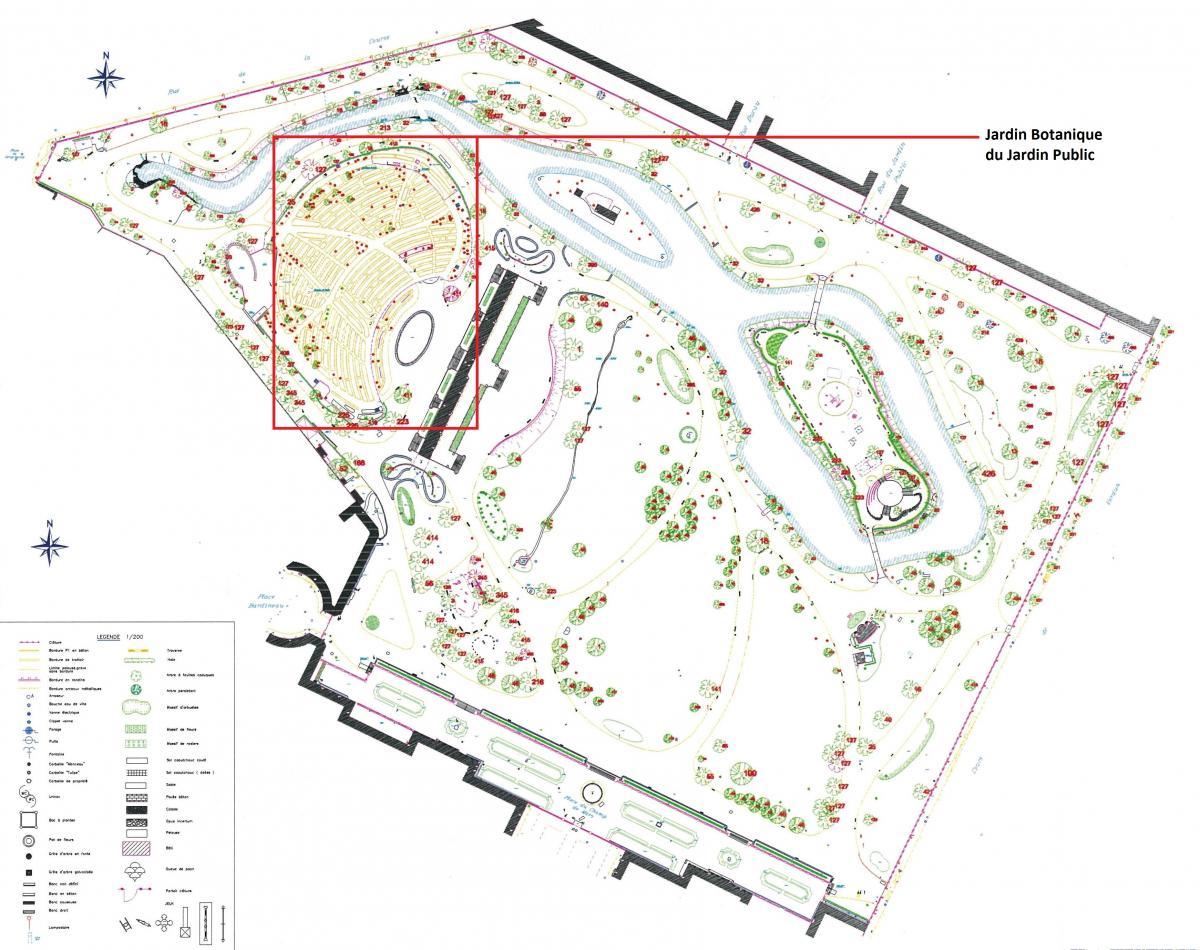 Plans des jardins jardin botanique de bordeaux for Jardin botanique bordeaux
